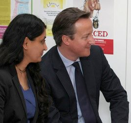 Aneeta Prem with Prime Minister David Cameron