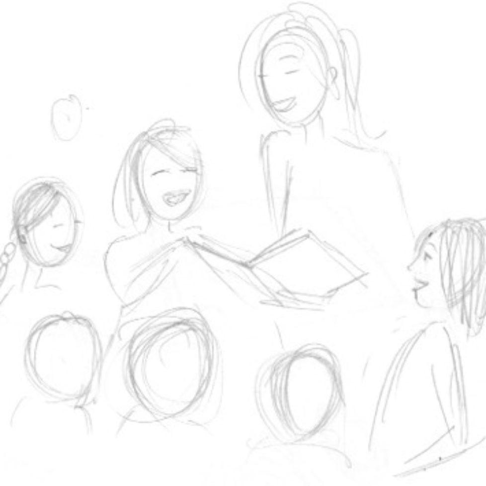Aneeta reading to kinds