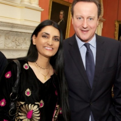 Aneeta With Former PM at 10 Downing St. on IWD 2016