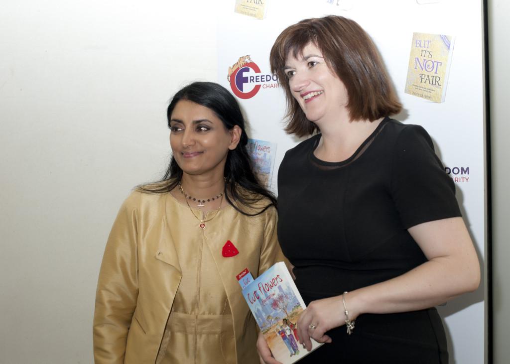 Aneeta Prem and Nicky Morgan, Cut Flowers presentation