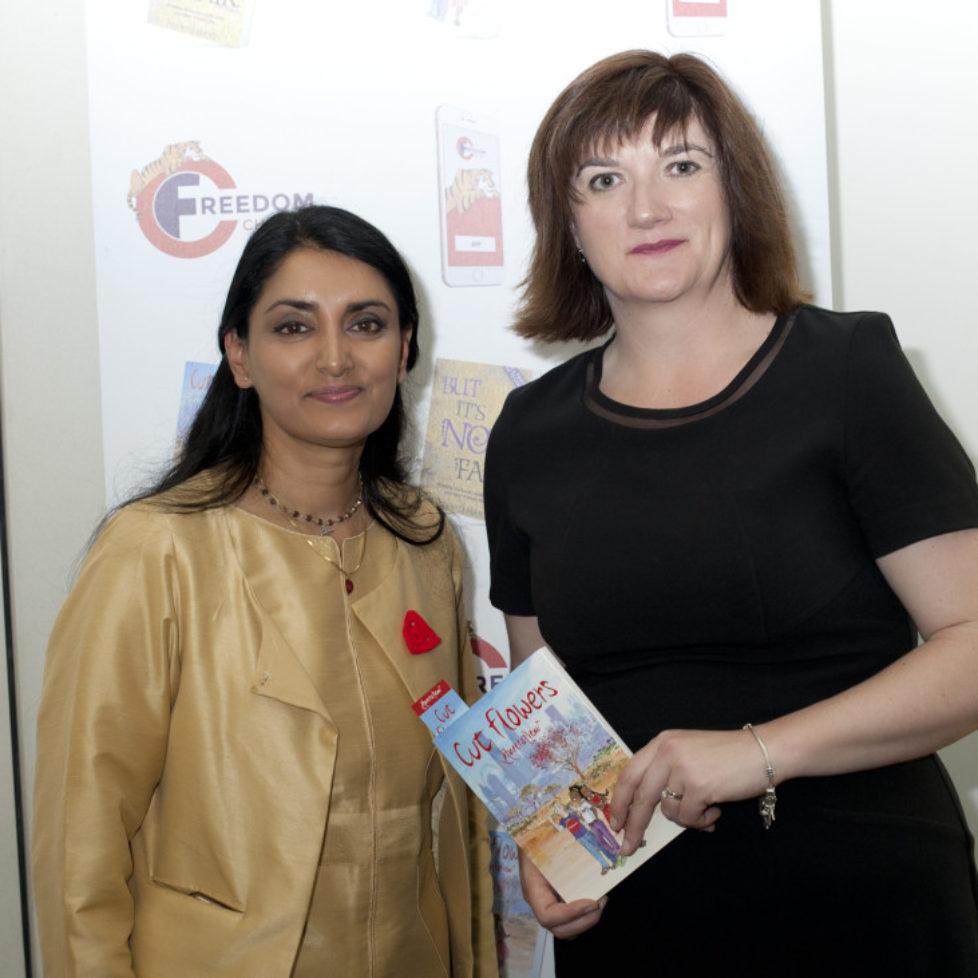 Aneeta Prem , Nicky Morgan MP, Cut Flowers Book, House of Commons