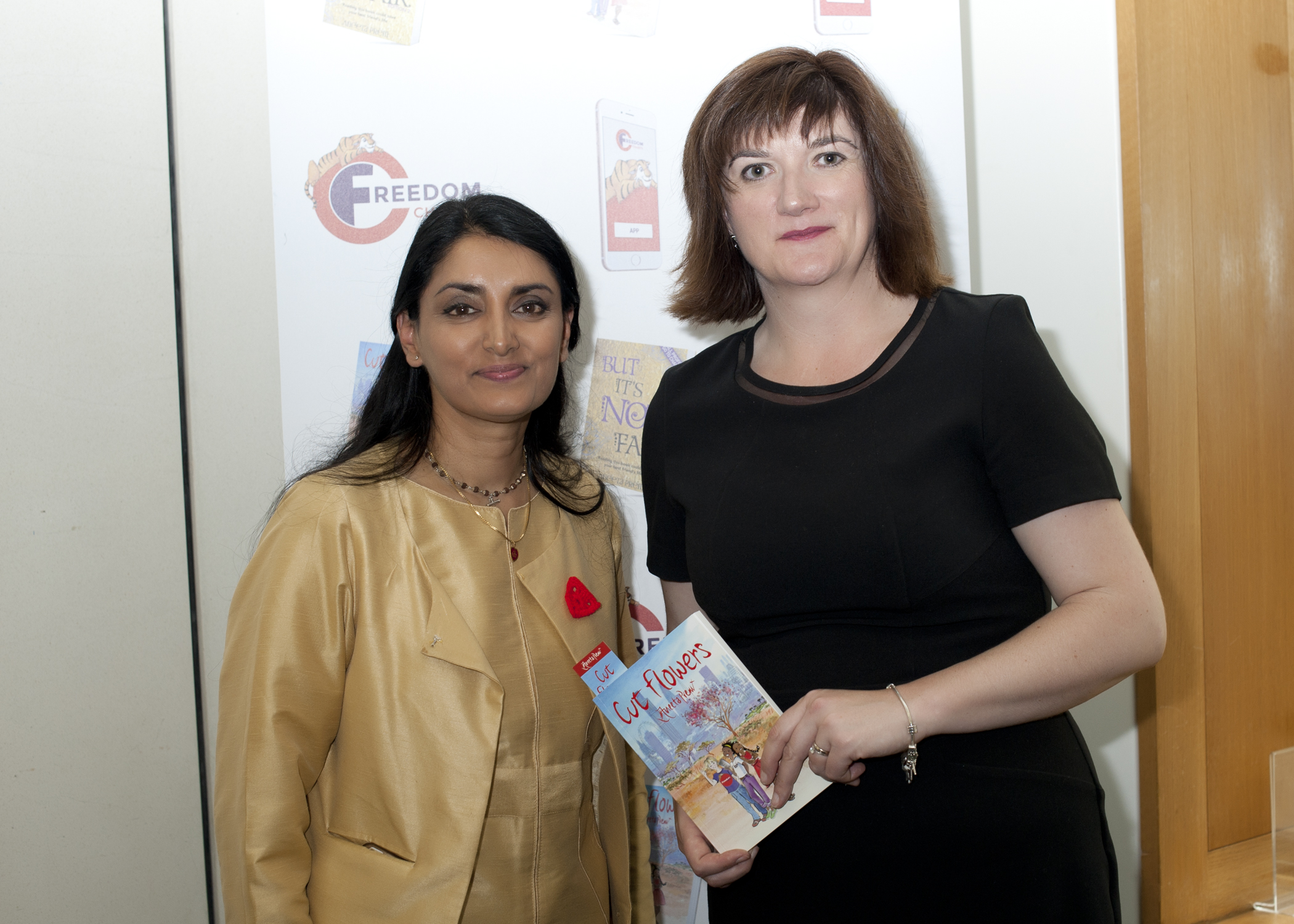 Aneeta Prem , Nicky Morgan MP, Cut Flowers Book, House of Commons