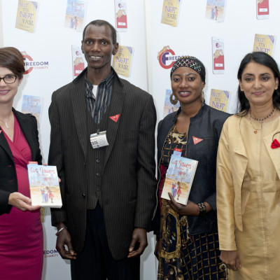 aneeta prem, Chloe Smith MP, cut flowers, fgm, freedom charity