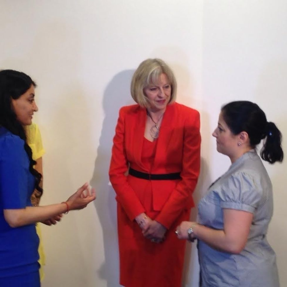 Aneeta and Theresa May talking 2