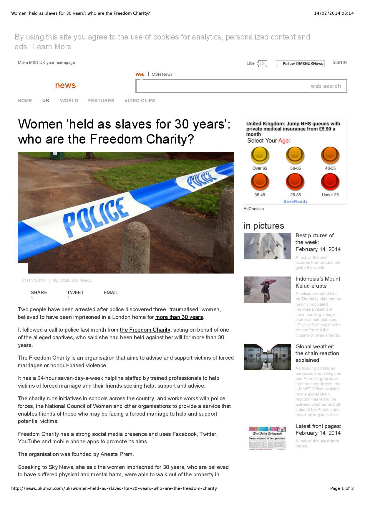 MSN – Who Are The Freedom Charity? — Aneeta Prem